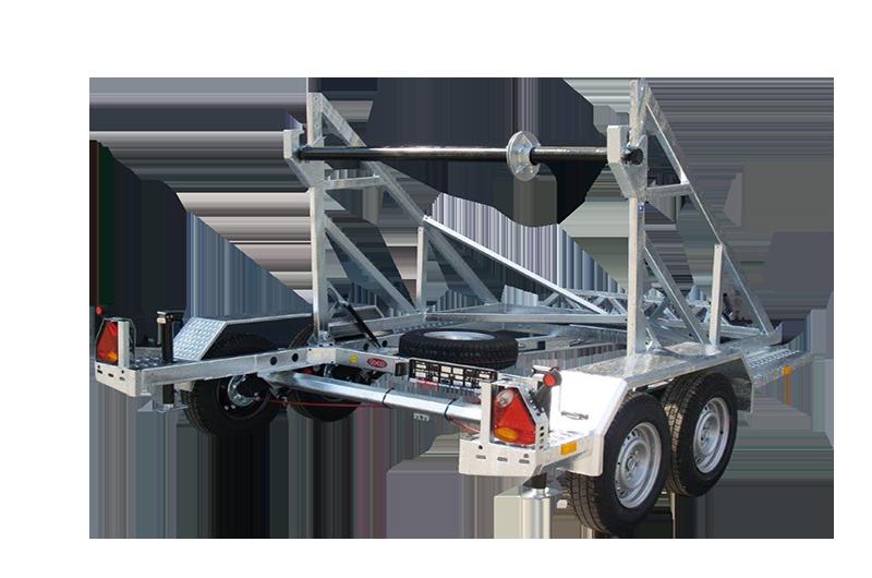 Spezial Anhänger TA-NO Kabeltrommel 2700 kg Handseilwinde